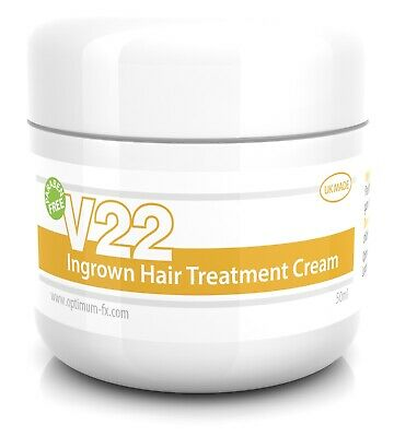V22 Ingrown Hair Treatment Cream Repair Razor Bumps Shaving Sensitive Skin Rash