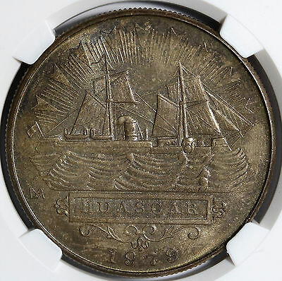 1979 Peru 5000 Soles  Battle of Iquique Silver BU Coin NGC MS65  --Tone & Luster