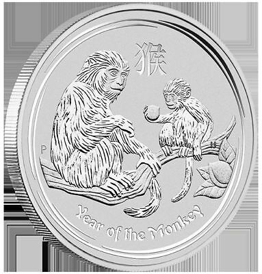 2016 Lunar Year of the Monkey - 1oz .999 fine silver coin - Perth Mint