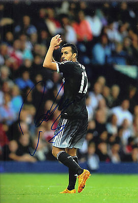 Pedro Genuine Hand Signed 12X8 Photo Chelsea FC Autograph AFTAL COA (1522)