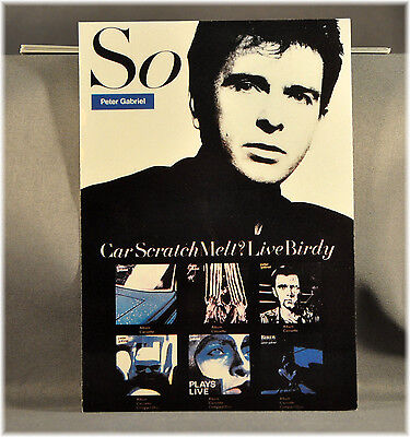 Peter GABRIEL So Vtg UK Postcard(s) Orig and Mint x5 pack of FIVE PC's