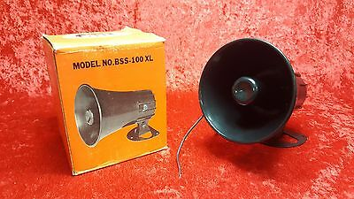 Vintage NOS MG Electronics BSS-100XL Automotive Super Siren 6-12 VDC