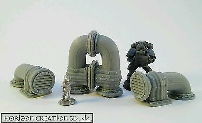 HC3D - Vented Pipes #1 - 4 Pack -Building Bits-Terrain&Scenery