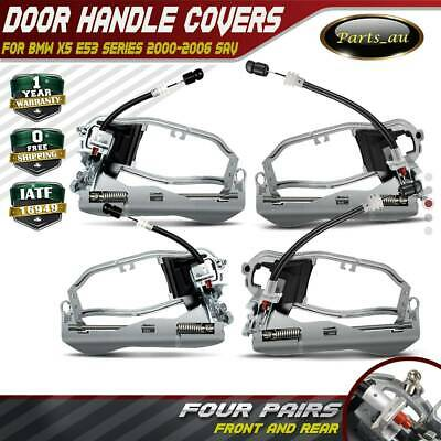 Set of 4 Outside Door Handle Carriers for BMW X5 E53 2000-2006 Front and Rear
