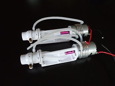 LK 2016 RC White Boat Turbo JET with Motor and Water Cooling System X 2