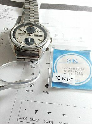 NEW CRYSTAL VTG   SEIKO6138-8020-6117-6400 6410 World Time- Navigator
