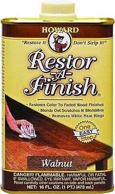 Howard Products RF4016 Restor-A-Finish 16-Ounce, Walnut [rings and water marks]