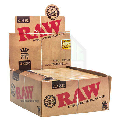 Raw King Size Slim Classic Papers - Box of 50