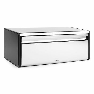 Brabantia Fall Front Bread Bin Soft Touch Closing Opening System Tin