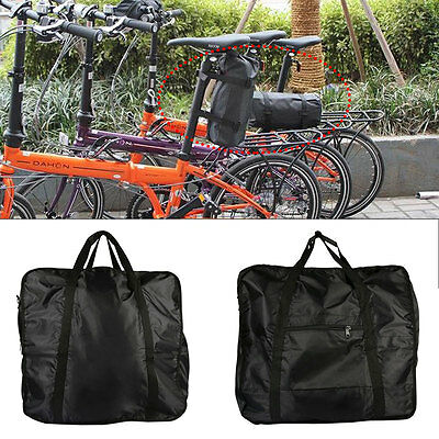Folding Travel Transport Bicycle Frame Luggage Carrier Case Bike Wheel Bag Pouch