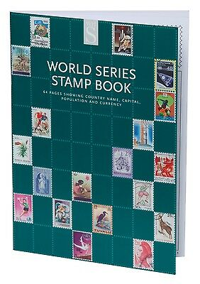 WHSmith World Series Stamp Book 64 Pages With Country Names And Currencies