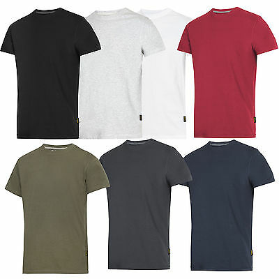 Snickers 2502  **twin Pack** Classic Plain T-Shirt T Tee Shirt *free Delivery**