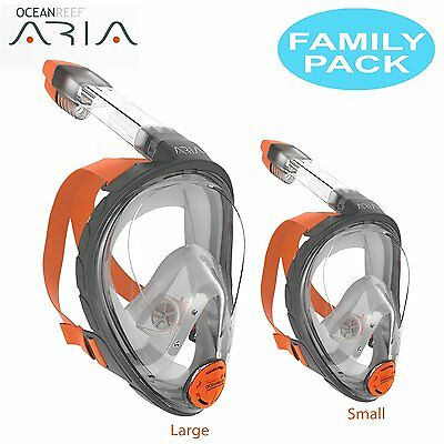 Ocean Reef Aria Full Face Snorkel Mask - FAMILY PACK (Includes Small and Large)