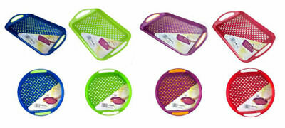Wham Anti-Slip Plastic Serving Tray Rubber High Grip Surface And Non-Slip Base