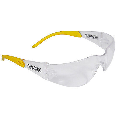 DEWALT Safety Eye Glasses Clear Lens Protector Clear / Yellow Frame DPG54-1D