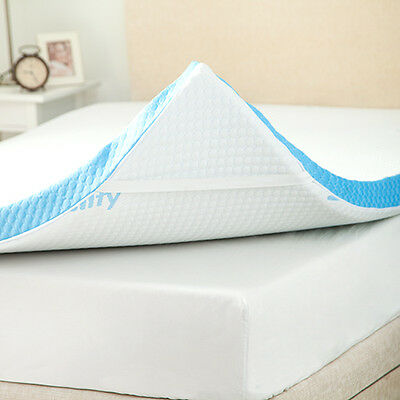 "Gelify Super King Size 3"" /7.5cm Gel Infused Foam Mattress Topper & Cover"