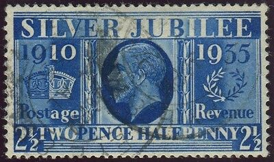Sg 456a 2½d Prussian Blue.  A very fine used example with two cds's, BPA cert