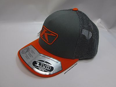 Klim Orange & Grey Icon Snap Baseball Hat Cap 3723-000-000-600