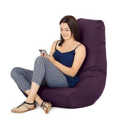 Purple Gamer Adult Bean Bag Gaming Chair Big Giant Outdoor Seat Beanbag Highback