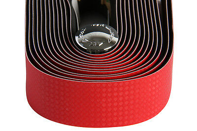 MASSI Bicycle handle bar tape Carbon Elite  RED
