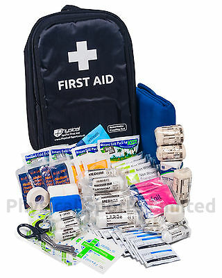 First Aid Kit in Rucksack   Large, All-Weather, Mobile Medical Bag