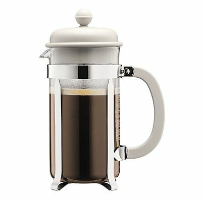 Bodum Cafetiere French Press Coffee Tea Maker 3 Cup, 0.35L, Off White