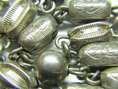 """Rosary; Very Unusual """"creed"""" Vintage Solid Sterling Rosary"""