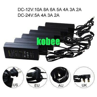 AC100-245V To DC 12V/24V 2A -10A Power Supply Adapter Driver Switch For strip