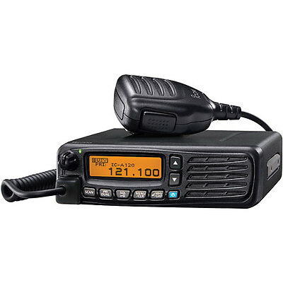New Icom IC-A120 AirBand Transceiver/Vehicle Mount/25kHz & 8.33kHz Capable