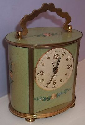 Very Nice Swiza Mignon 17 Jewels Carriage Musical Alarm Clock