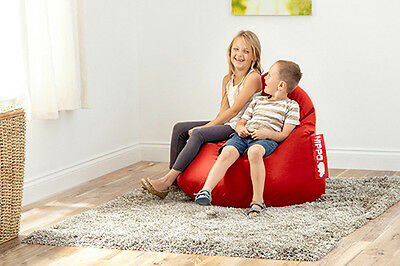 Red Faux Leather Hippo Pod Beanbag Large Lounge Seat Kids Adults Bean Bag Big