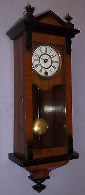 Very Nice Miniature Walnut Vienna Wall Clock
