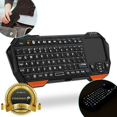 FOSMON 30FT RANGE Mini Wireless Bluetooth Keyboard w/ Touch Pad for Android  TV