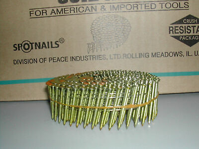 """Coil Nails 1 1/2"""" Inch Ring Shank 15 Degree Galvanized CW4D083RG (3,500)"""