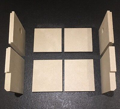 Full Set Fire Bricks And Upper Baffle Plate To Fit Stovax Riva 40 INSET ONLY