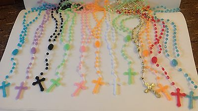120 Different colour PRISON ISSUE PLASTIC ROSARY BEADS STOCK CLEARANCE