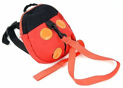 Kids Red Black Ladybug Safety Harness Tether Leash Toy Backpack Free Shipping