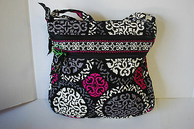 New With Tags Vera Bradley Canterberry Magenta Triple Hipster *think Christmas*