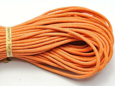 30 Meters Orange Waxed Cotton Beading Cord Thread Line 2mm Jewelry String