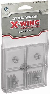Star Wars  X-wing Clear Bases & Pegs  - BRAND NEW