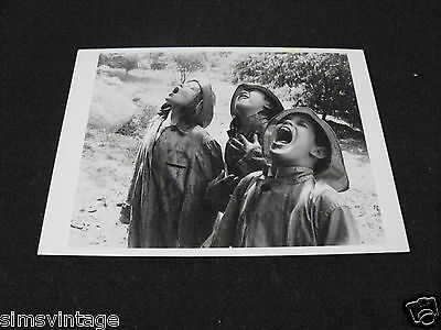 Unusual Weird B Postcard Children Singing in rain 1950