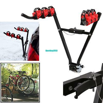 3 Bike Cycle Bicycle Mountain Rear Towbar Tow Ball Mount Car Carrier Rack 45kg