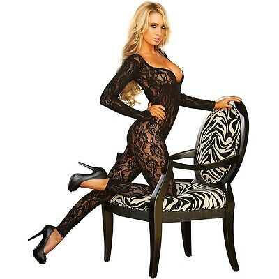 Long Sleeve Crotchless Footless Bodystocking Hustler Lingerie