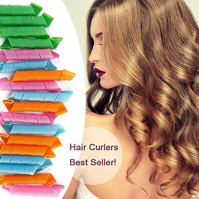 18/24//36/54PCS 30CM DIY Hair Rollers Curlers Circle Twist Spiral Ringlets Comb
