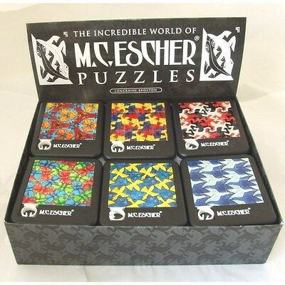 New Mc Escher Tessellations Artist Sliding Tile Puzzle Game In Black Case 1170
