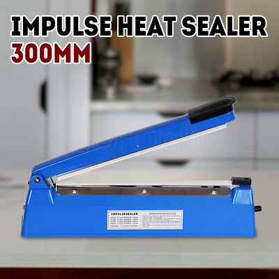 "12"" Impulse Heat Sealer 300mm Electric Plastic Poly Bag Hand Sealing Machine NEW"