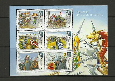 Alderney 2016 Battle Of Hastings Mini Sheet  Mnh