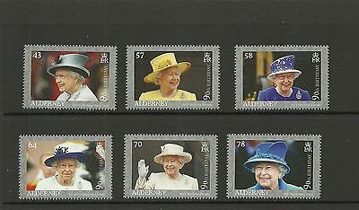 Alderney 2016 Queens 90Th Birthday Set Mnh