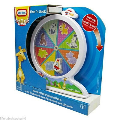 Kids Little Tikes Zoo Animals Find 'n Seek Toddler Toy Memory Match Game Toys
