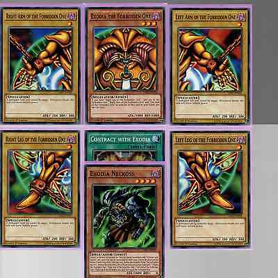 All 5 Pieces Of Exodia The Forbidden One + Exodia Necross & Contract LDK2-ENY04